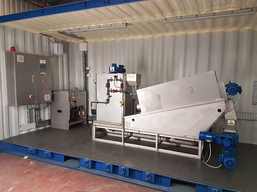 Kerry Group - WTDS-201 Disc Screw Press Containerised