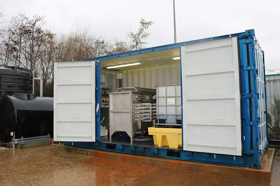 Water Tecnik - Mauds Ice Creams - 2m3/hr Containerised DAF System